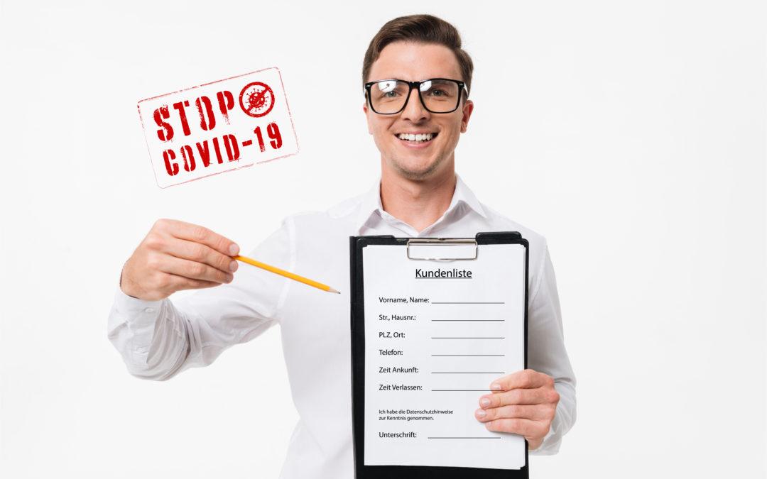 Kundenregistrierung gem. COVID19-Verordnung